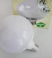 Светодиодная лампа (глобус) LED 20Вт, Е27/4000К