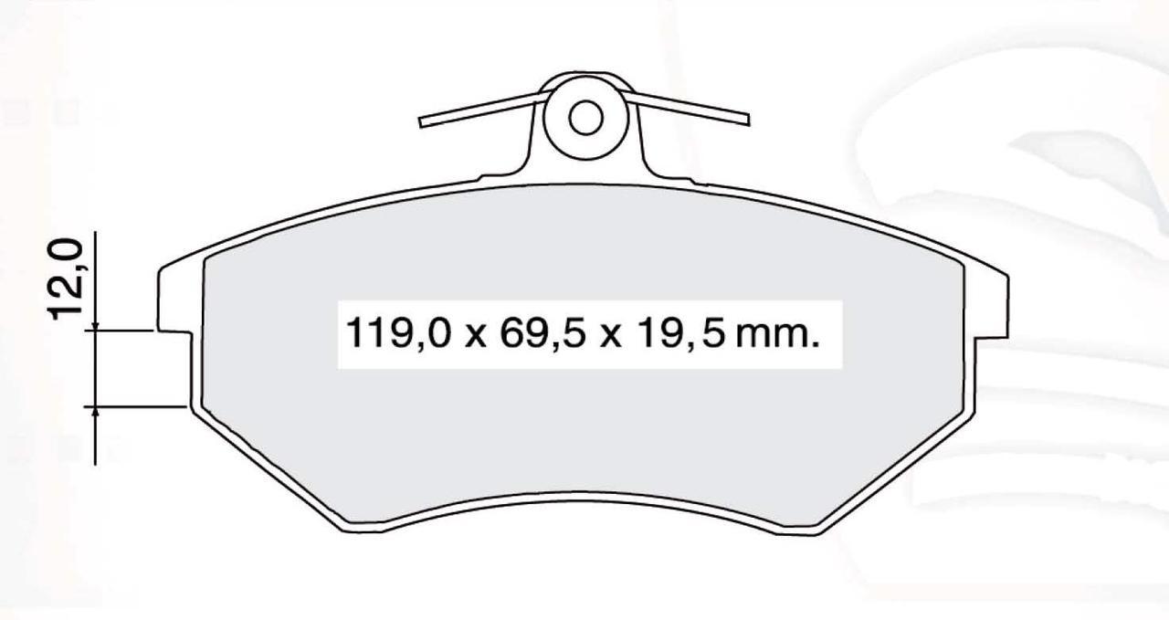 DBB 134.40 Тормозные колодки (пeредние, под невентилируемые диски) AUDI 8A0698151C, VW 357698151B