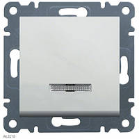 Выключатель с подсветкой 1-полюсный Lumina-2, белый, 10АХ/230В Hager WL0210