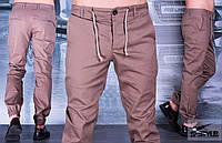 Мужские брюки с манжетами на резинке
