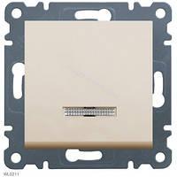 Выключатель с подсветкой 1-полюсный Lumina-2, крем, 10АХ/230В Hager WL0211