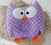 Детская подушка для сна Фиолетовая совка