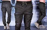 Мужские брюки хаки с карманами