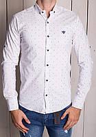 Рубашка белая в цветную точку