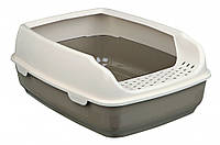 Туалет Trixie Delio Litter Tray для кошек с рамкой, пластик, 35х20х48 см