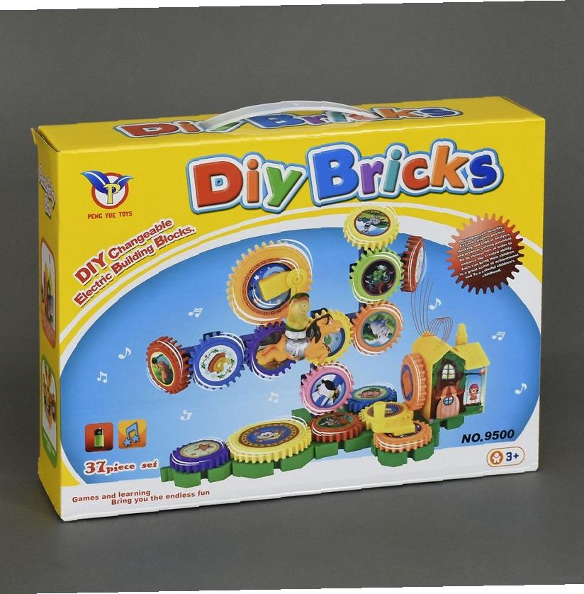 Конструктор на шестерёнках Diy Brick