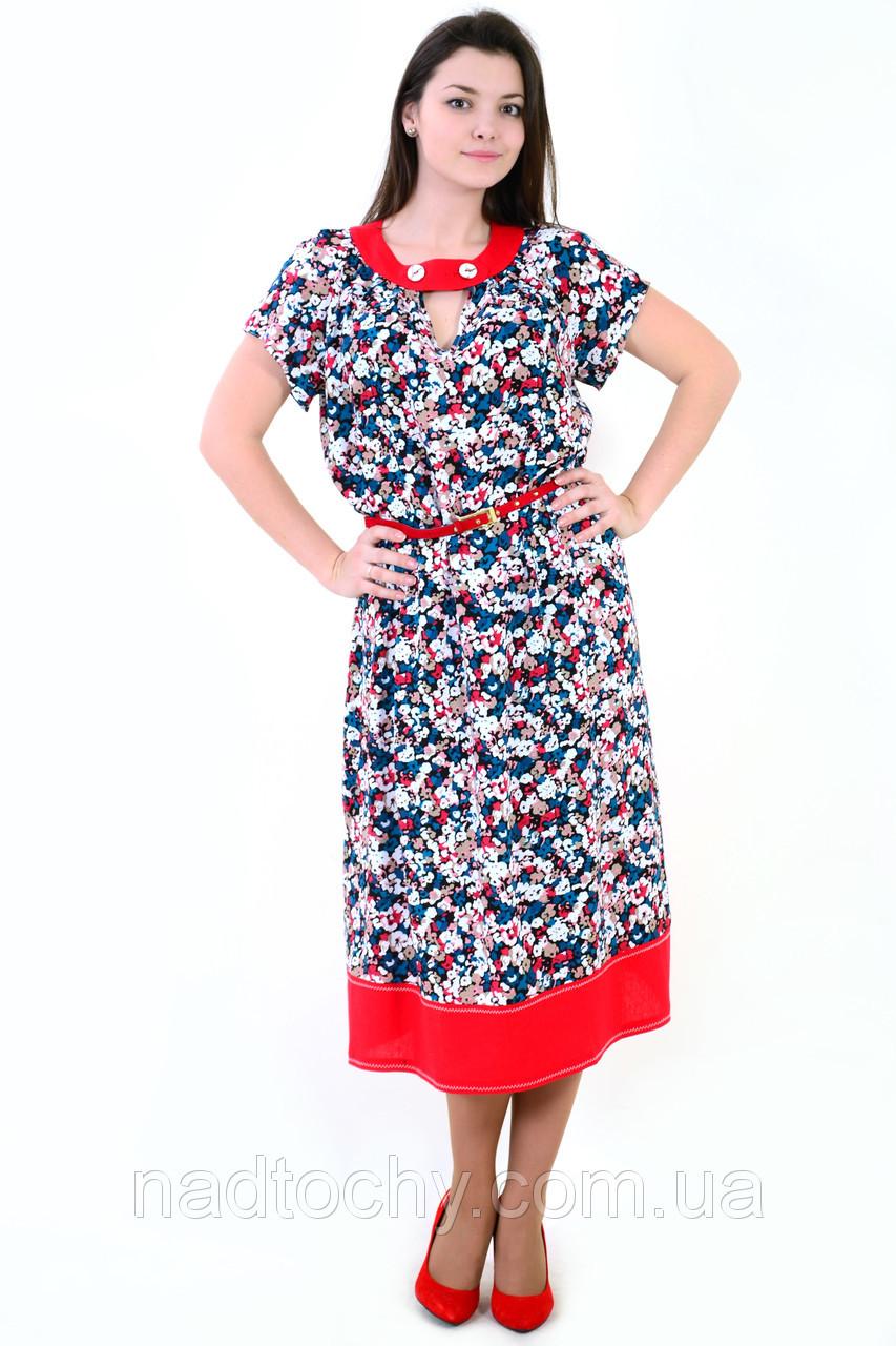 Сукня , інтернет магазин жіночого одягу , штапель,( ПЛ 156), 50,52,54,56,58, одяг для повної молоді.