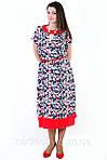 Платье , интернет магазин женской одежды , штапель,( ПЛ 156), 50,52,54,56,58, одежда для полной молодежи., фото 2