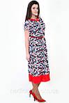 Сукня , інтернет магазин жіночого одягу , штапель,( ПЛ 156), 50,52,54,56,58, одяг для повної молоді., фото 3