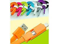 USB кабель 2 в 1,андроид,айфон,разные цвета