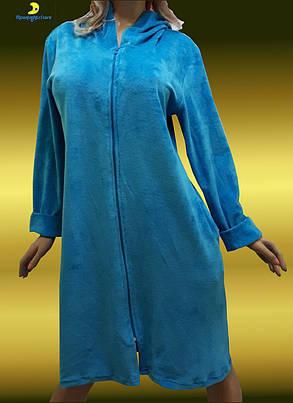 Велюровый женский халат большого размера от 52 до 58, Украина, фото 2