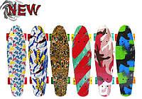 "Скейт Penny Board CRICA NEW 22""  со светящимися колесами 55*15 см"