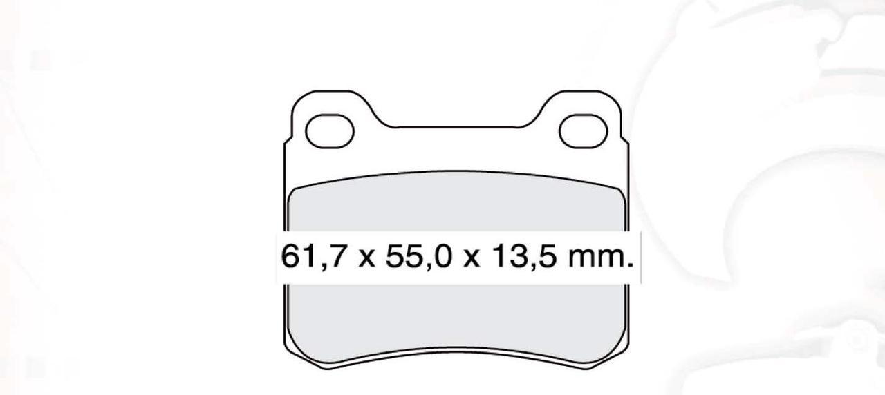 DBB 157.10 Тормозные колодки (задние)  MERCEDES-BENZ C, Е, S-CLASS 0004209820
