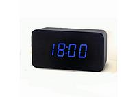 Настольные часы с синей подсветкой VST-863-5