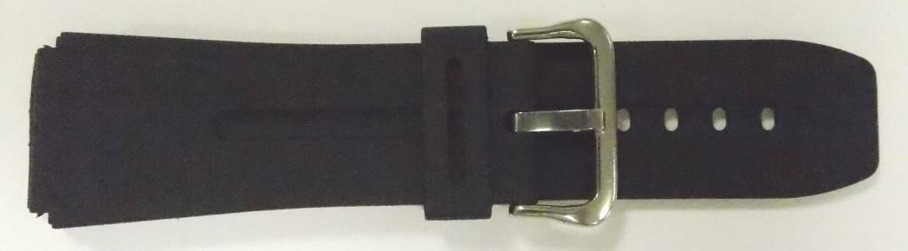 Ремешок Спортивный резиновый (Польша) черн. 24 мм