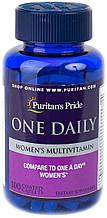 Витамины для женщин, Puritan's Pride Women's One Daily Multivitamins 100 Caplets
