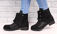 Женские короткие ботинки Hermès  на низком ходу (осенние)
