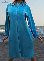 Велюровый женский халат большого размера от 52 до 58, Украина, фото 3