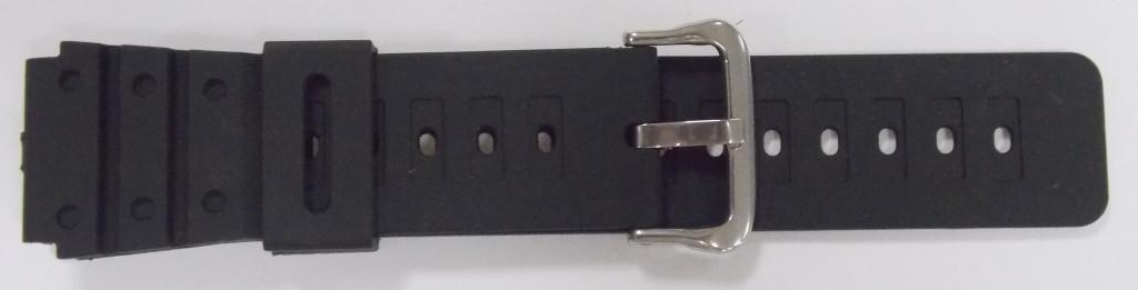 Ремінець Спортивний гумовий (Польща) черн. 22 мм