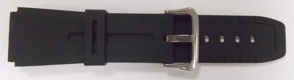 Ремешок Спортивный резиновый (Польша) черн. 22 мм