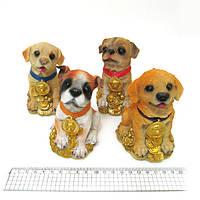 """Сувенир керамический копилка """"Собачки на деньгах"""" 8,8*7,7*11,1см mix"""