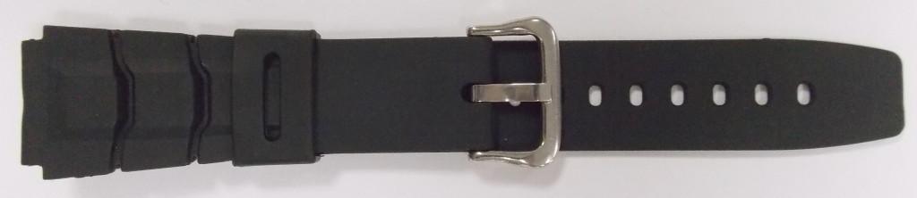 Ремешок Спортивный резиновый (Польша) черн. 20 мм