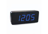 Настольные часы с синей подсветкой VST-865-5