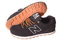 Кроссовки мужские New Balance 574 черные (нью беленс), фото 1
