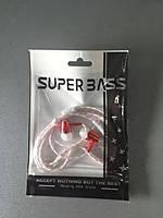 Наушники Super Bass неоновые,красные