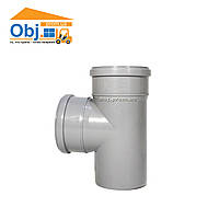 Тройник 110х110*90 для внутренней канализации Европласт