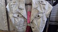 Джинсовый пиджак укороченный , короткий рукав  Silvian Heach р. М