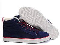 Кроссовки мужские Adidas Ransom Fur Blue Suede (в стиле адидас) синие
