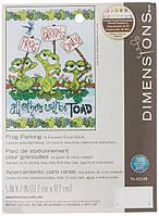 Набор для вышивания Dimensions 70-65148 Жабья парковка Frog Parking