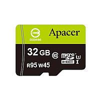 Карта памяти Apacer 32GB microSDHC UHS-I (95/45) Class10 w/0 Adapter RP (AP32GMCSH10U3-R)