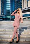 Жіночий розкішний брючний костюм з подовженим кардіганом і укороченими брюками (4 кольори), фото 3