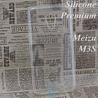 Чехол силиконовый Premium Meizu M3, M3s, M3 mini прозрачный
