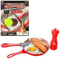 Посуда, продукты, сковородка, лопатка, 2 вида, на листе P3012