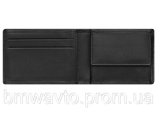 Кожаный кошелек Mercedes Mini wallet, Basic, Black Leather, фото 2