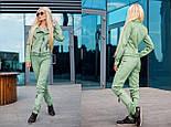 Женский красивый замшевый костюм: куртка-косуха и брюки с молниями (6 цветов), фото 3