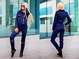 Женский красивый замшевый костюм: куртка-косуха и брюки с молниями (6 цветов), фото 6