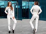 Женский красивый замшевый костюм: куртка-косуха и брюки с молниями (6 цветов), фото 10