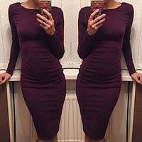Теплое женское платье на осень