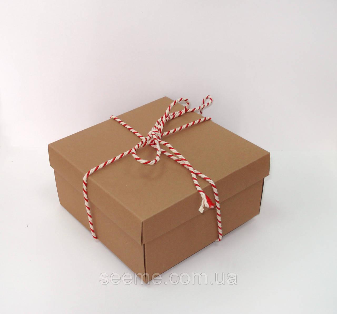 Коробка подарочная 140х140х70 мм, цвет крафт - SEE ME в Одессе