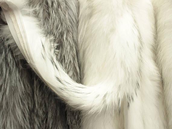 Опушка енот 70 см. выбеленная, фото 2