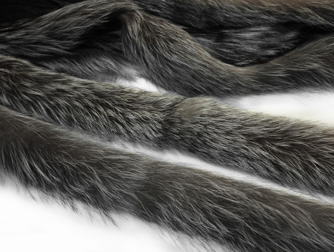 Опушка чернобурка 60 см.