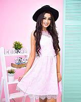 Элегантное женское кружевное платье