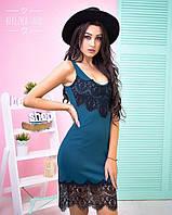 Стильное женское платье с дорогим кружевом