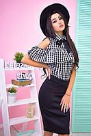 Модный женский костюм в черном цвете