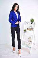 Модный женский пиджак синего цвета