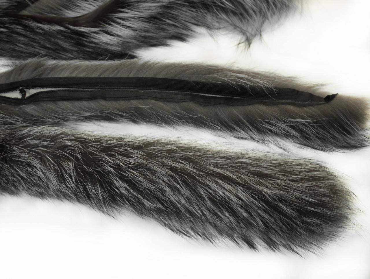 Опушка чернобурка 70 см.
